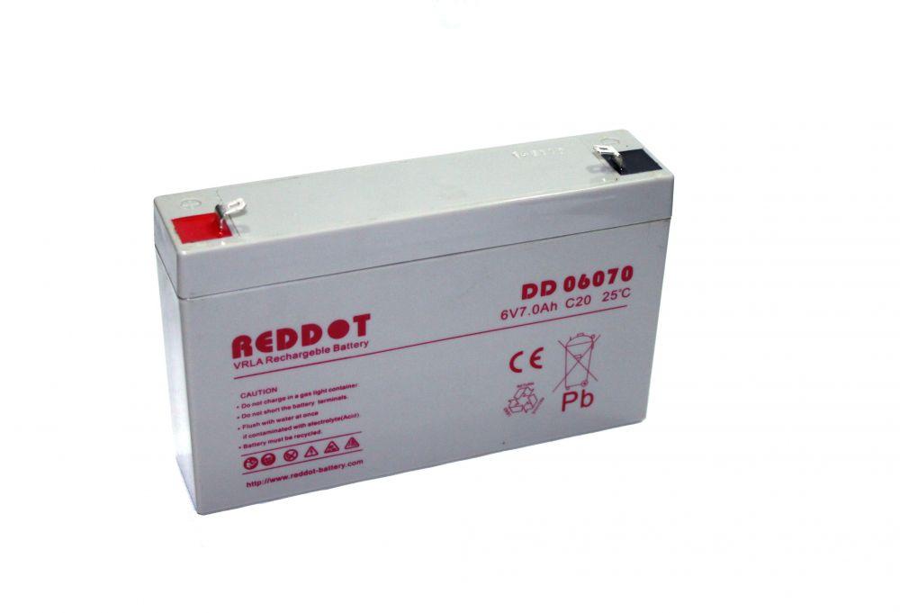 6V-os 7Ah RedDot zselés akkumulátor (Acorn, Scoutguard vadkamerához)
