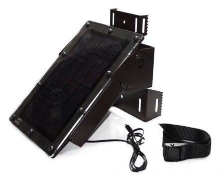 Acél házas napelemes tápegység (12 V külső tápellátású kamerákhoz, 2,3Ah)