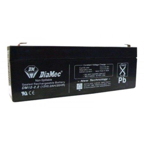 12V-os 2,2Ah zselés akkumulátor