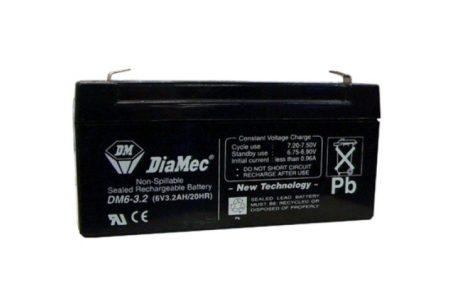 6V-os 3,2Ah zselés akkumulátor (vadkamerához)
